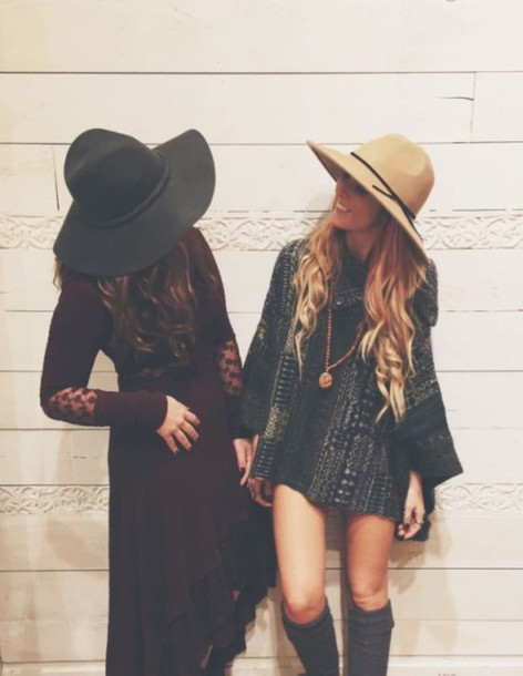 asgi6k-l-610x610-dress-boho-indie-maxi-mini-70s-70+s-1970-hats-floppy+hat-floppy+hats-pendant-long+sleeves-gypsy-boho+dress